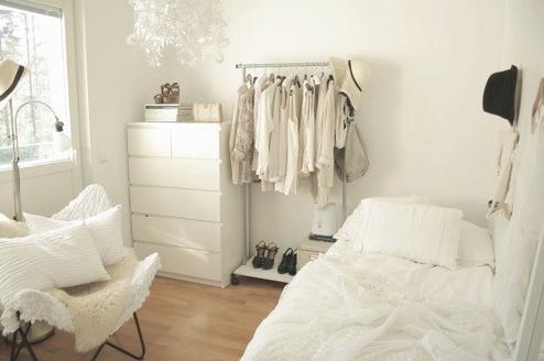 minimalist wardrobe clothes rack