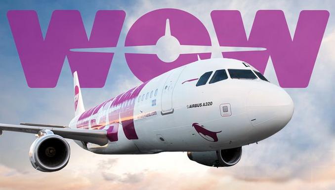 wow air purple plane
